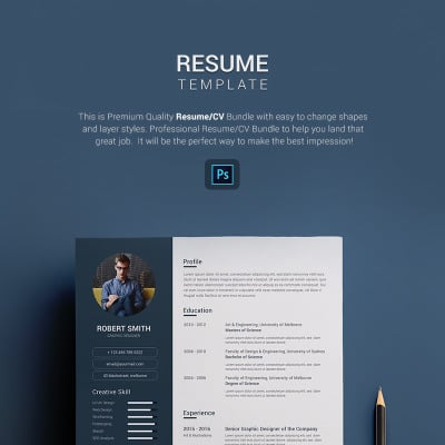 Modèle de CV #67689 pour site de portfolio de designer