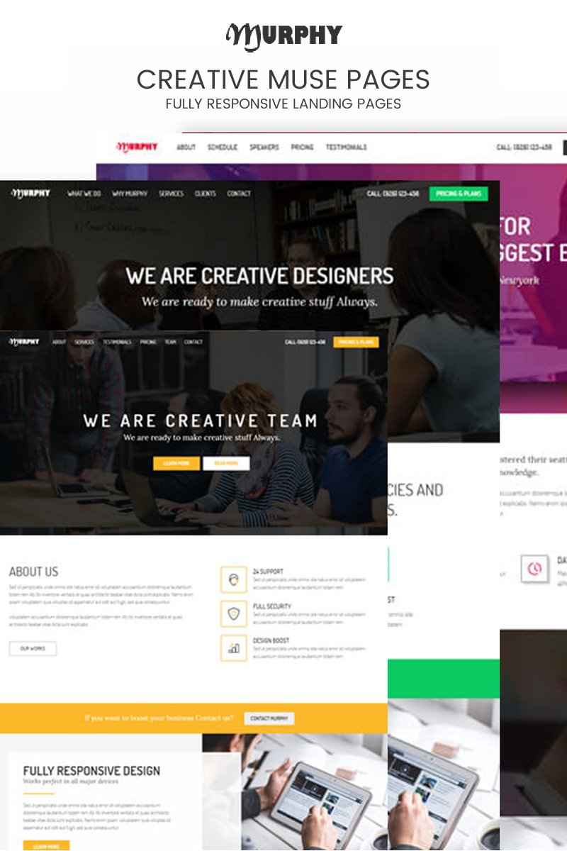 Murphy Creative Multi-purpose Muse Template