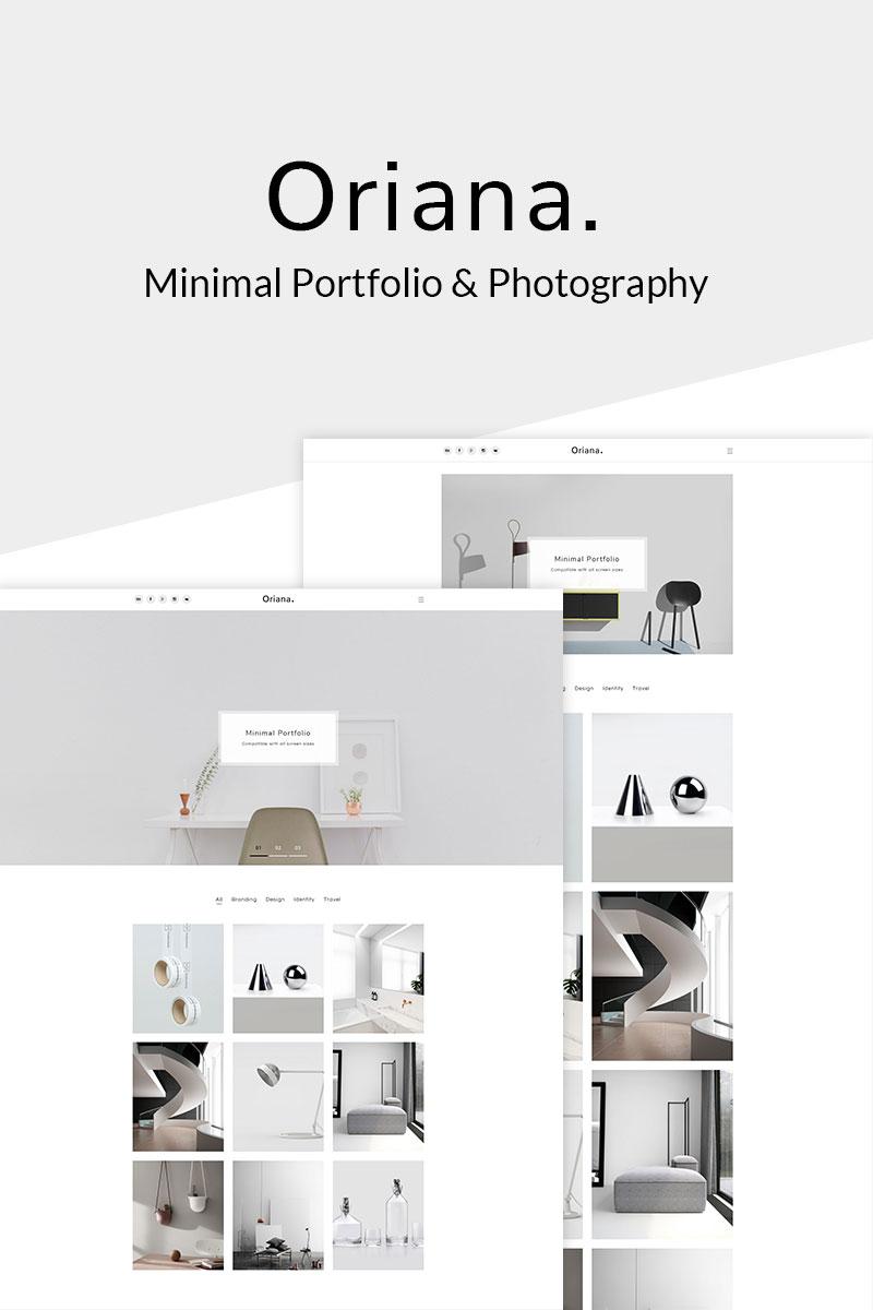 """Oriana - Minimal Portfolio & Photography"" - адаптивний WordPress шаблон №67636"