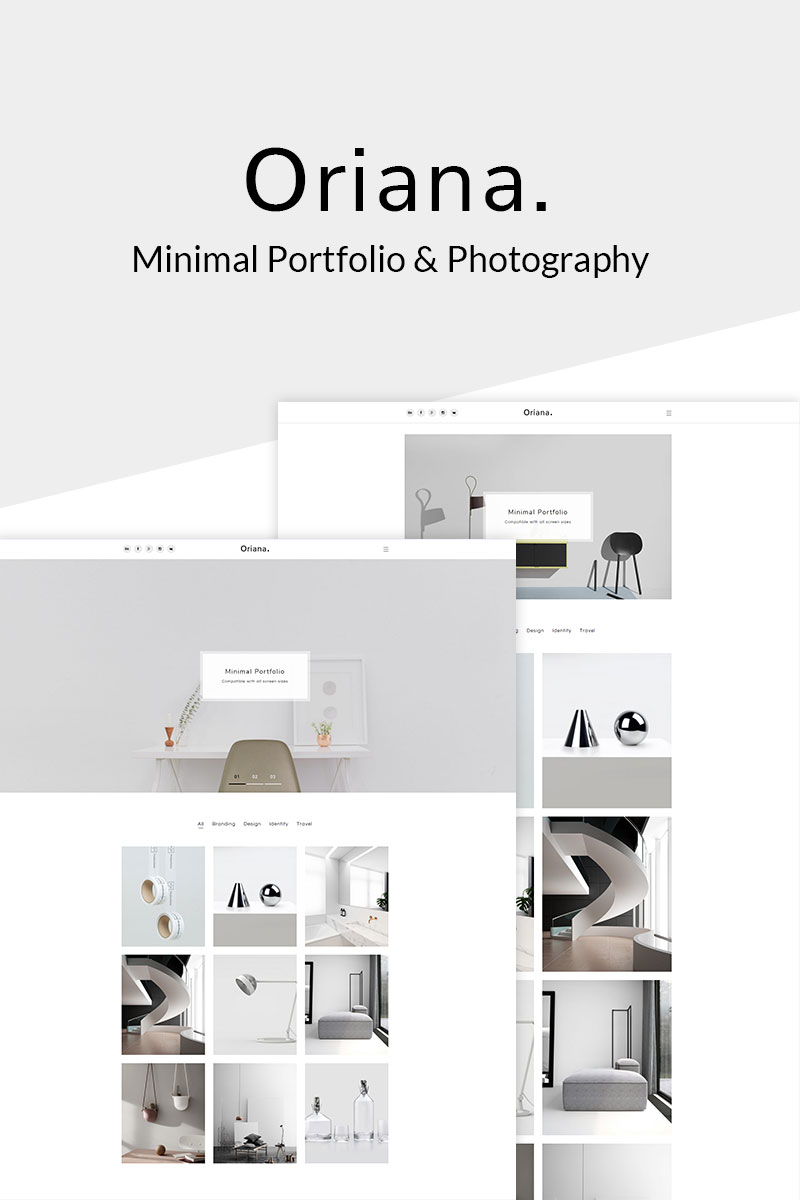 """Oriana - Minimal Portfolio & Photography"" 响应式WordPress模板 #67636"