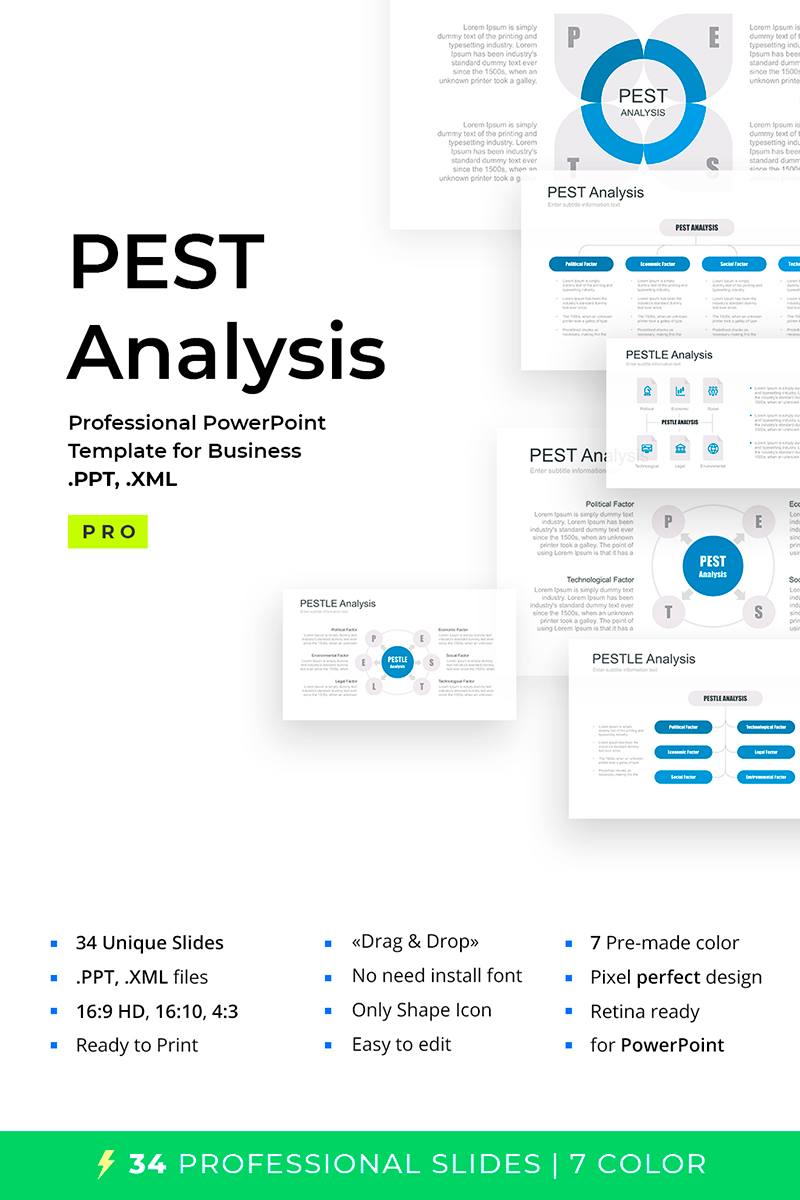 Pest  Pestel  Pestle For Powerpoint Template  67640