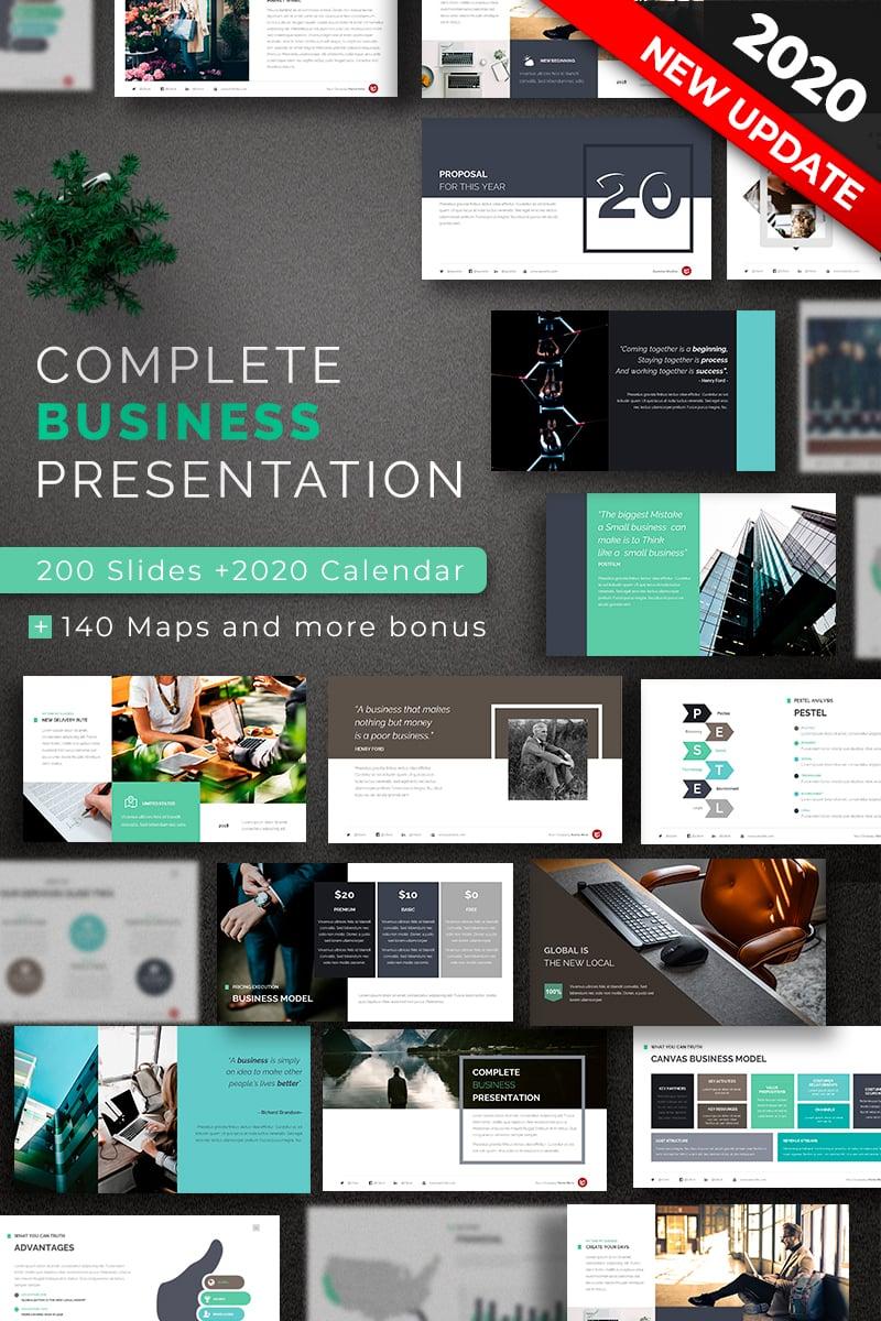 Prémium Complete Business PowerPoint sablon 67622
