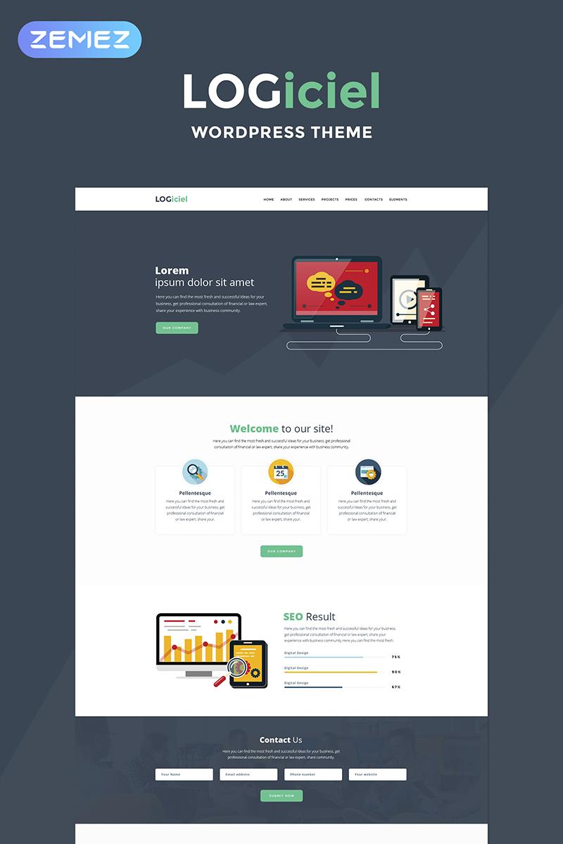 Responsywny motyw WordPress Logiciel - Software Company #67681 - zrzut ekranu