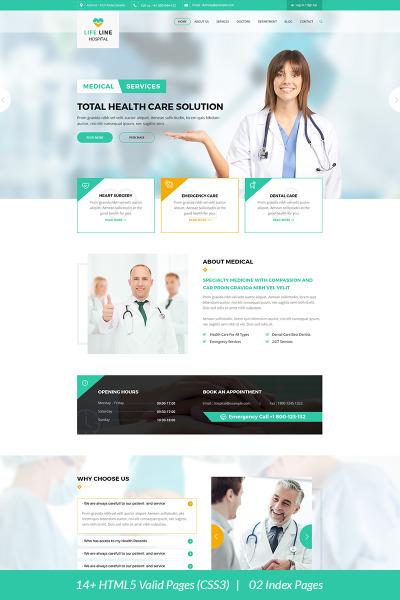 Responsywny szablon strony www Life Line Hospital and Health #67698 #67698