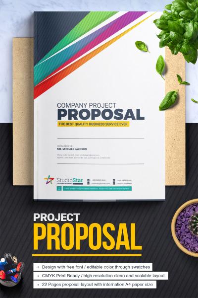 Responsywny szablon tożsamości korporacyjnej Project Proposal - #67665 #67665
