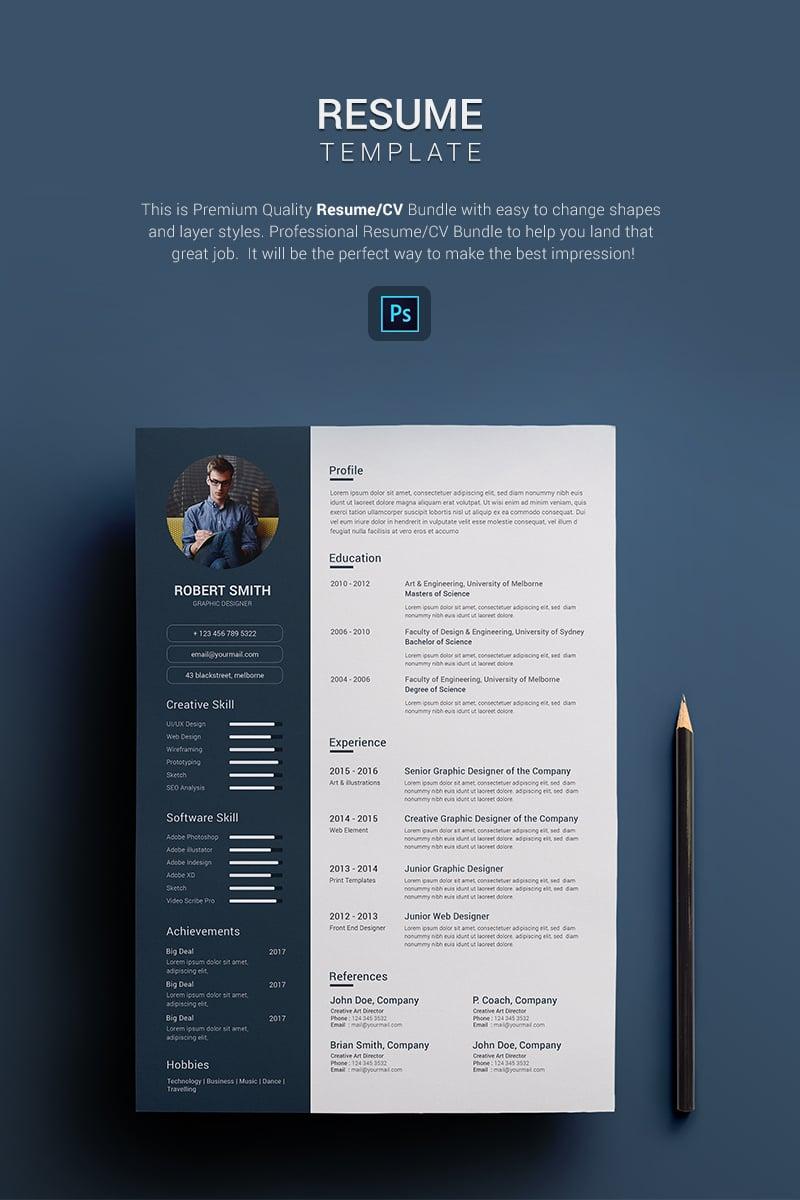 Robert Smith - Graphic Designer Resume Template
