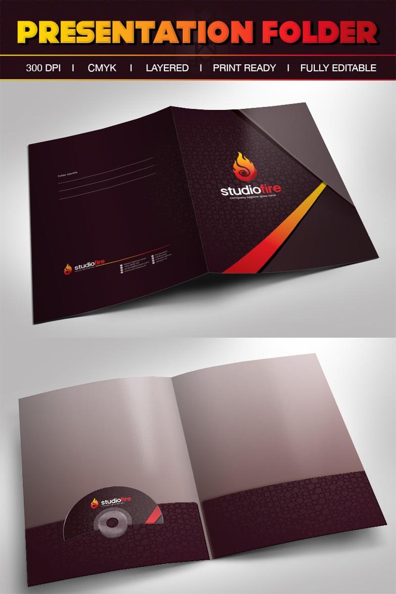 StudioFire Creative Presentation Folder With Pocket Design Template - Corporate Identity Template