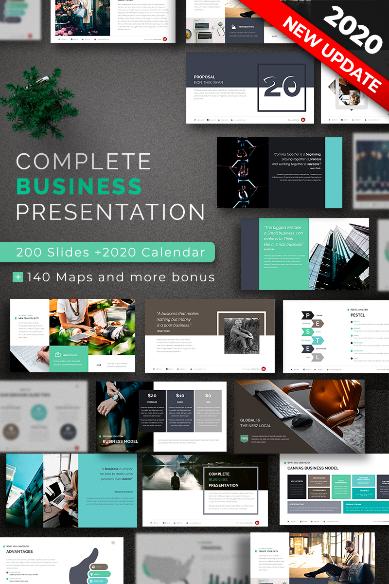 Szablon PowerPoint Complete Business #67622