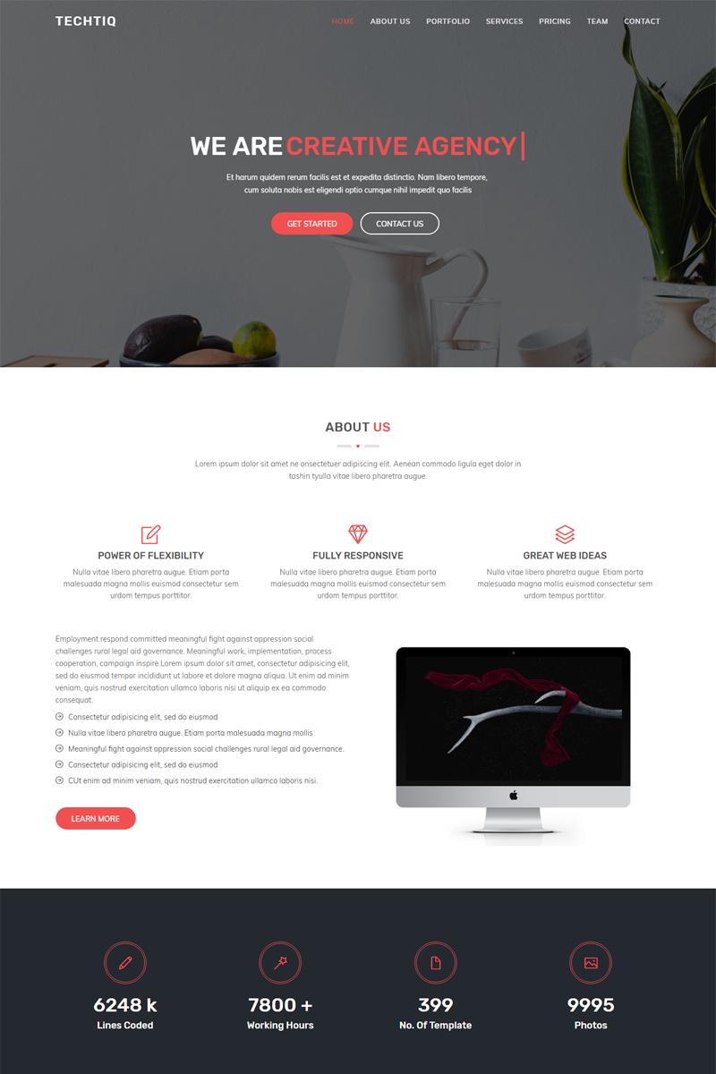"""Techtiq - Responsive Multipurpose Website Template"" 响应式网页模板 #67611"