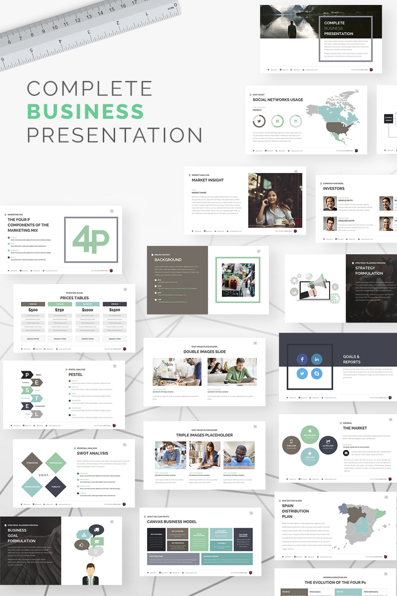 "Template Keynote #67609 ""Complete Business"""