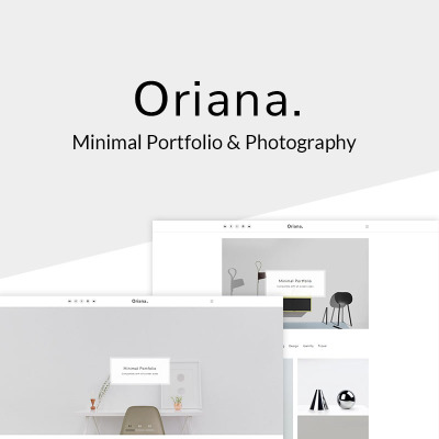 "WordPress Theme namens ""Oriana - Minimal Portfolio & Photography"" #67636"