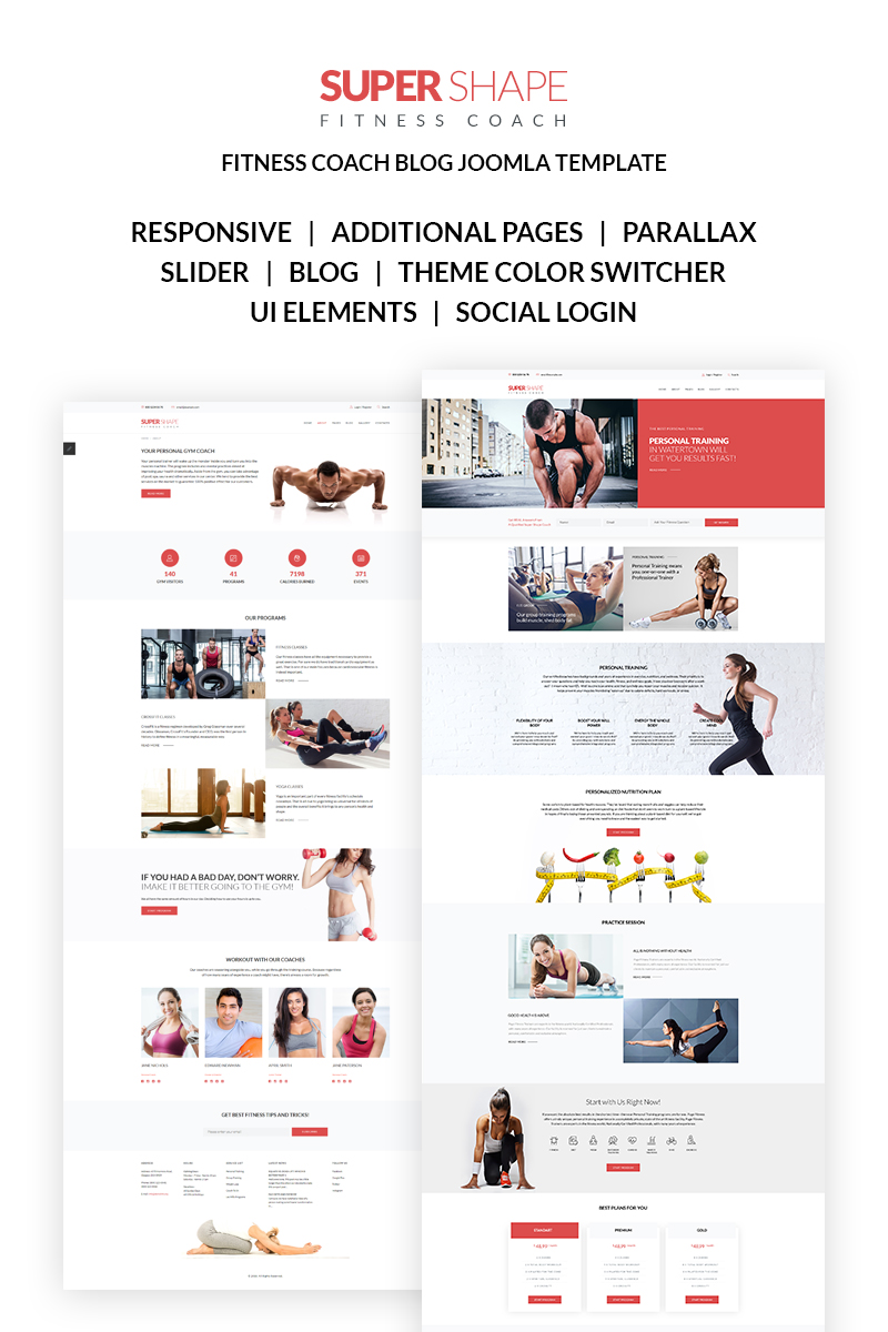 Luxury Personal Training Website Template Picture Collection ...