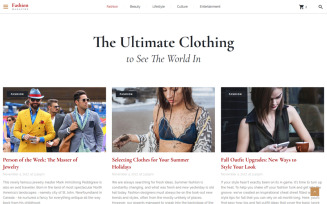 The Ultimate Clothing - Fashion Magazine Multipage HTML5 Website Template