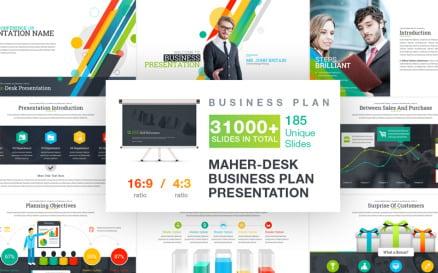 Maher - Desk Business Plan PowerPoint Template