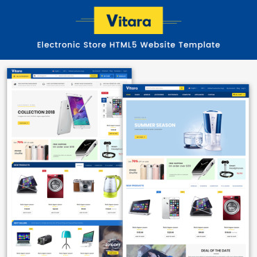 Preview image of Vitara - Electronic Store HTML5