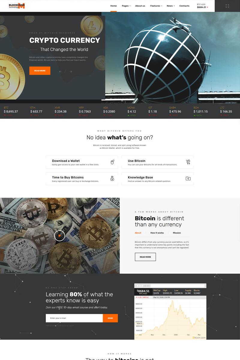 """Blockchain technology - Efficient Blockchain Project Multipage HTML"" Responsive Website template №67734"