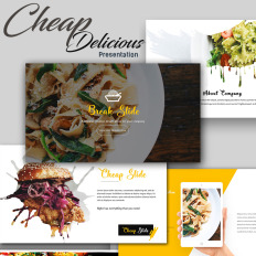 Cafe and restaurant powerpoint template 32497 cheap delicious presentation microsoft ppt template toneelgroepblik Images