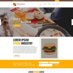 Delivery Food PSD Template #68703