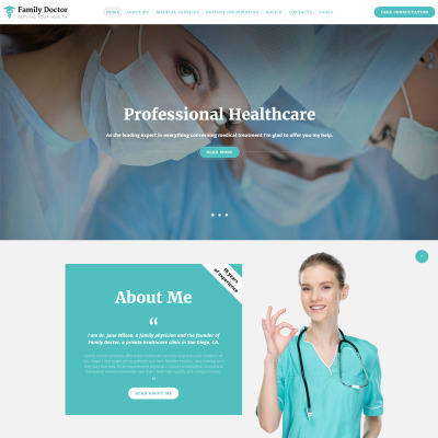 21 best doctor website templates templatemonster