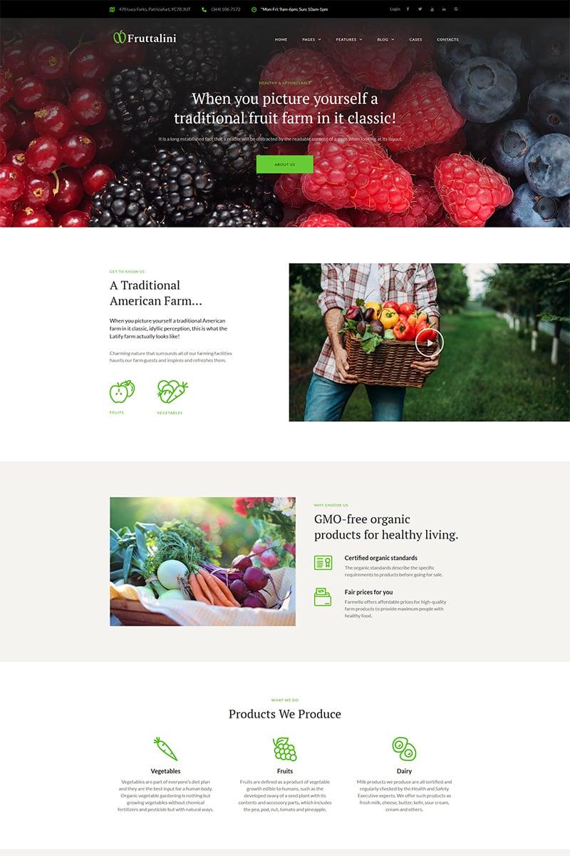 """Fruttalini - Organic Fruit Farm Responsive"" 响应式WordPress模板 #67793"