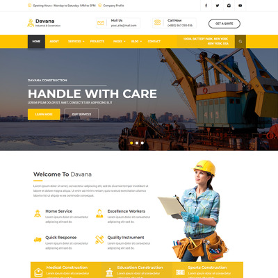 "HTML шаблон ""Davana - Responsive Industrial Business Html"" #67725"