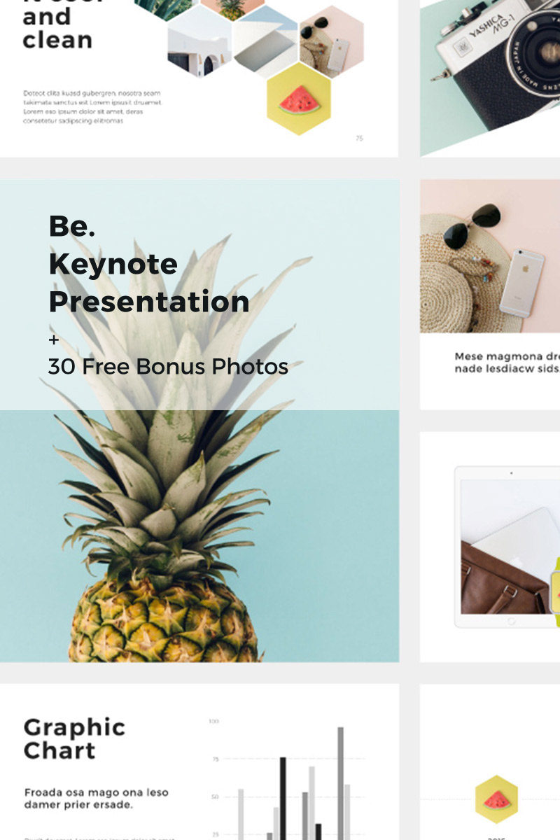 "Keynote Vorlage namens ""Be + 30 Photos"" #67742"