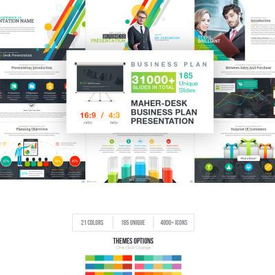 Maher Desk Business Plan Powerpoint Template 67731