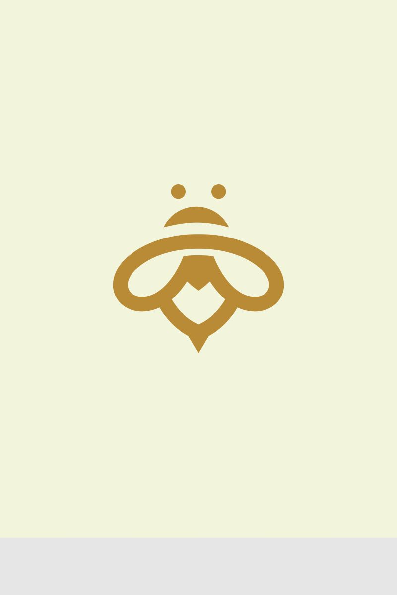 Minimalist Bee Logo Template 67765
