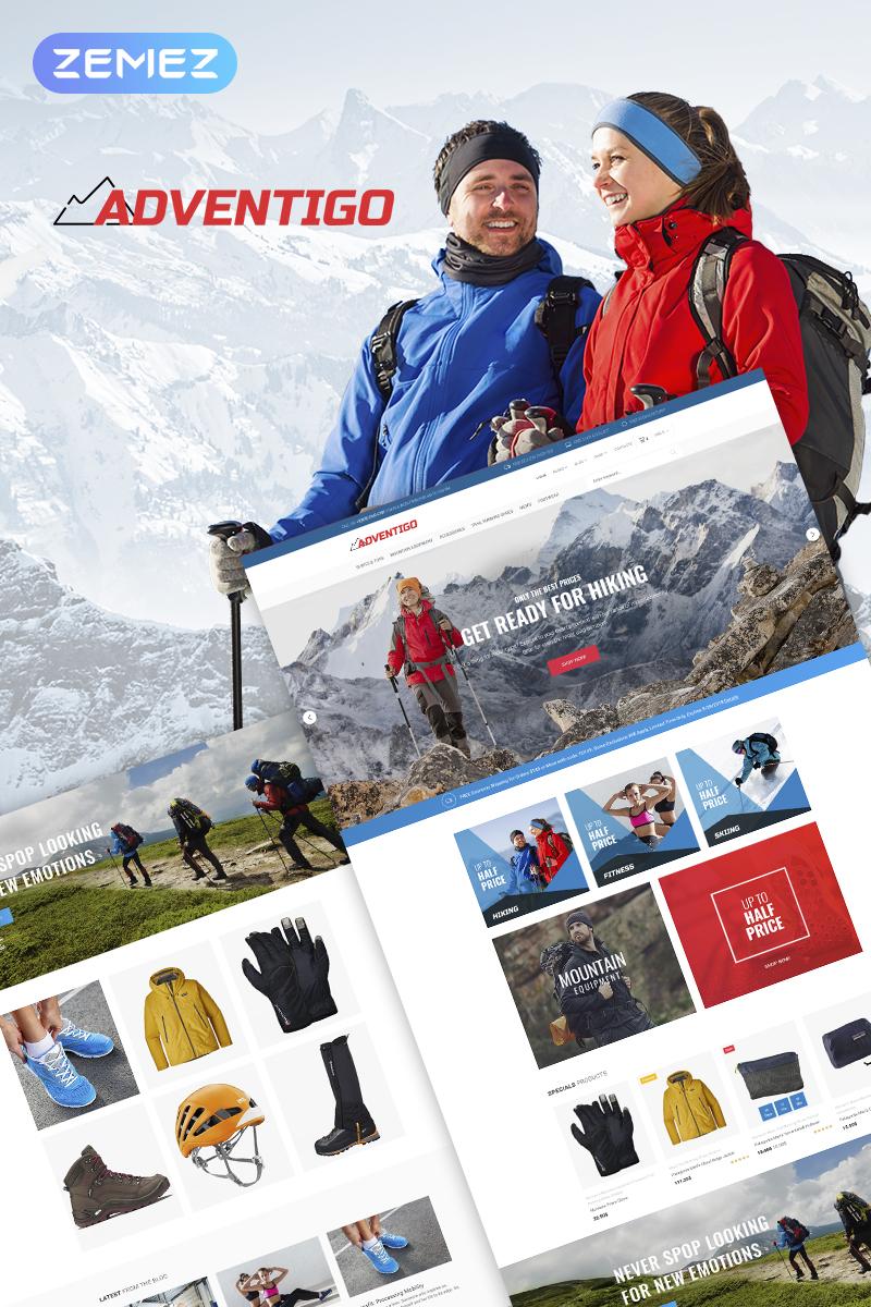 """Modello WooCommerce Responsive #67703 """"Adventigo - Sports & Travel"""""""