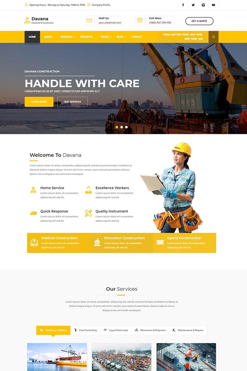 "Plantilla Web ""Davana - Responsive Industrial Business Html"" #67725"