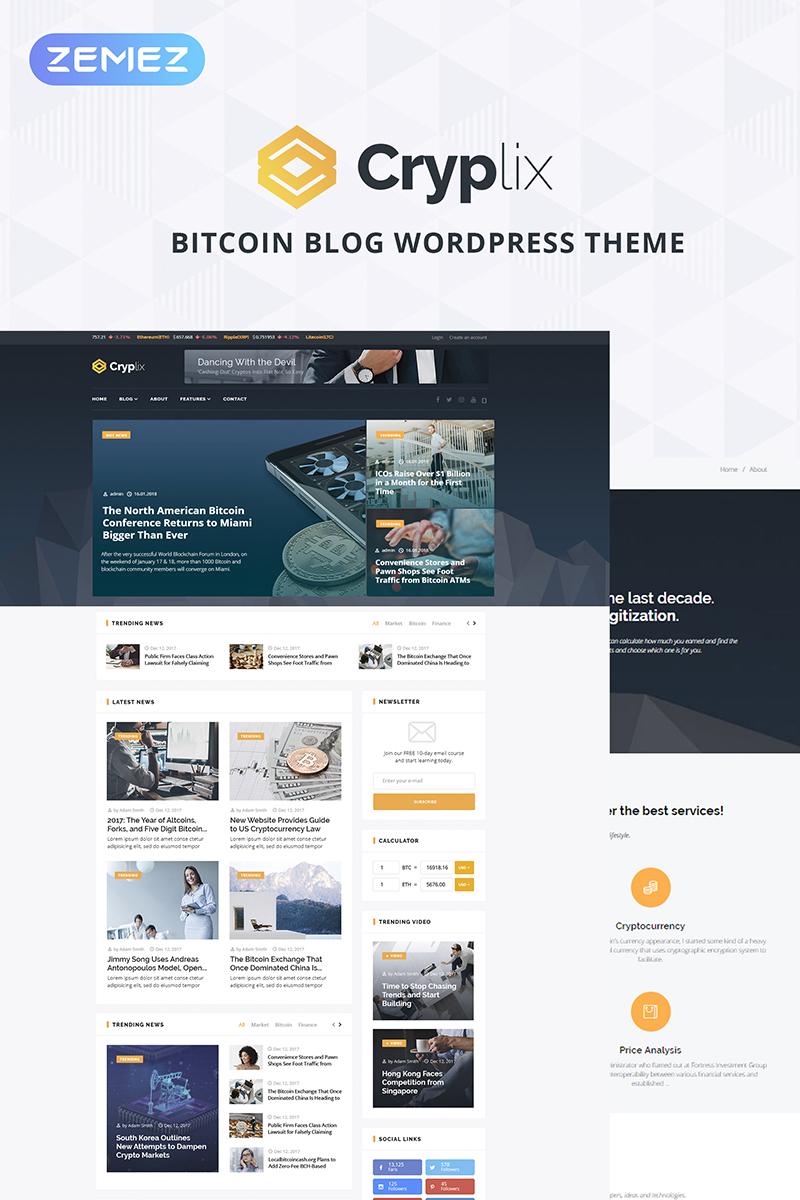 Responsywny motyw WordPress Cryplix - Bitcoin Blog #67737 - zrzut ekranu