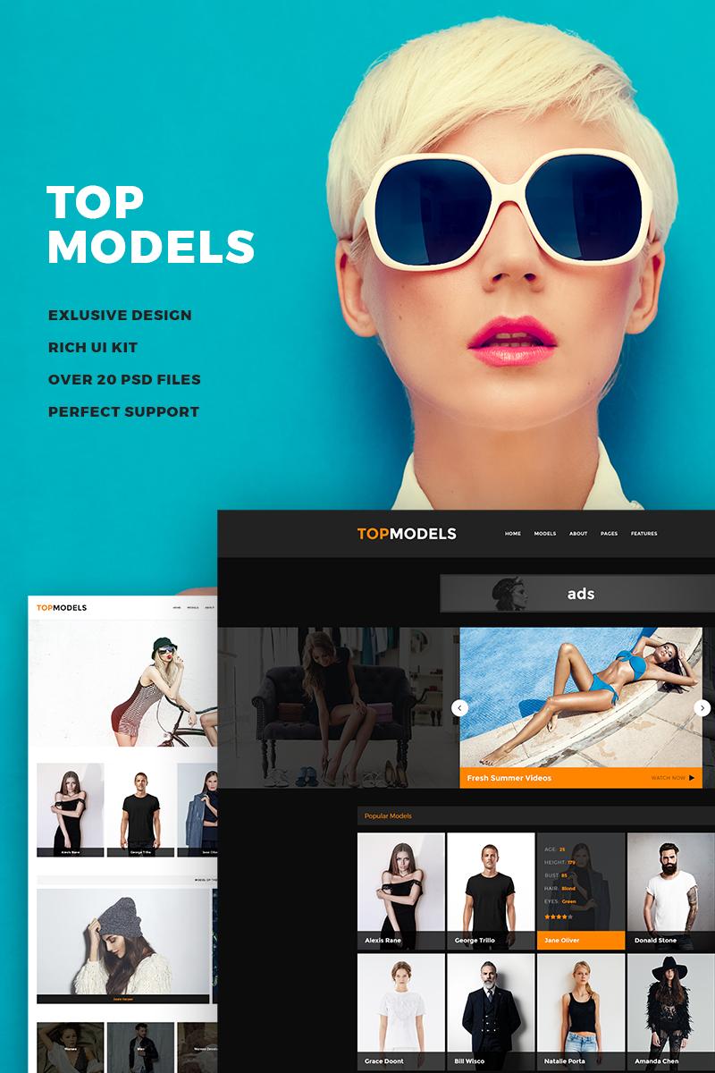 """Responzivní Šablona webových stránek """"Top Models"""" #67708"""