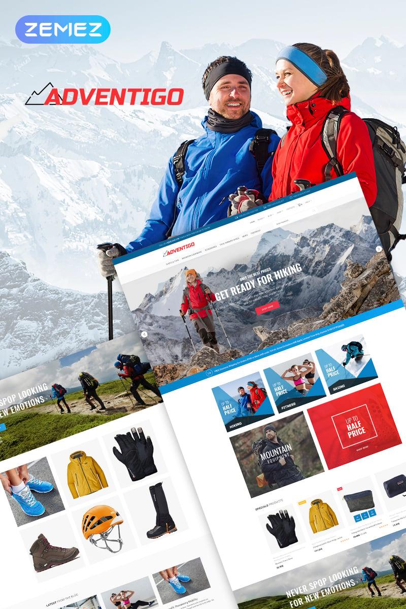 Reszponzív Adventigo - Sports & Travel WooCommerce sablon 67703 - képernyőkép