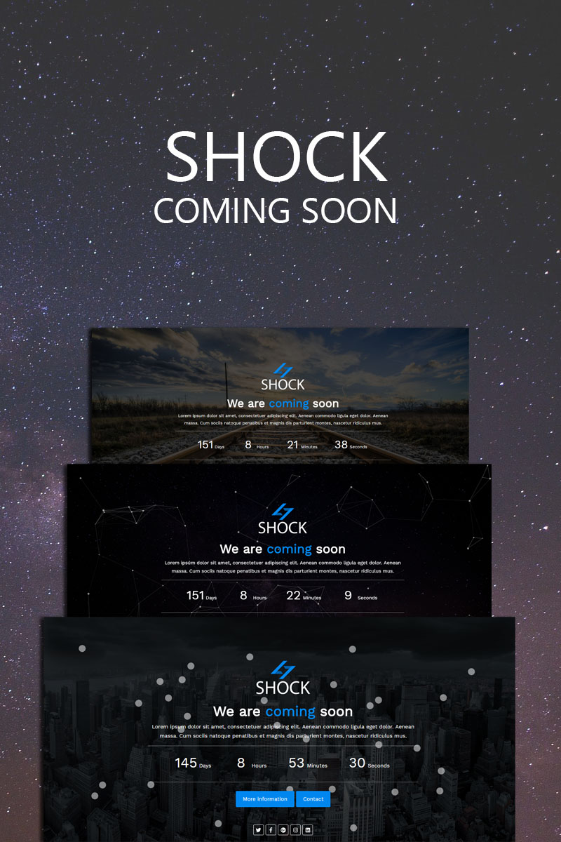 """SHOCK - Coming Soon"" Responsive Speciale pagina №67741"