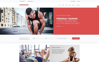 Super Shape - Responsive Personal Fitness Coach Joomla Template