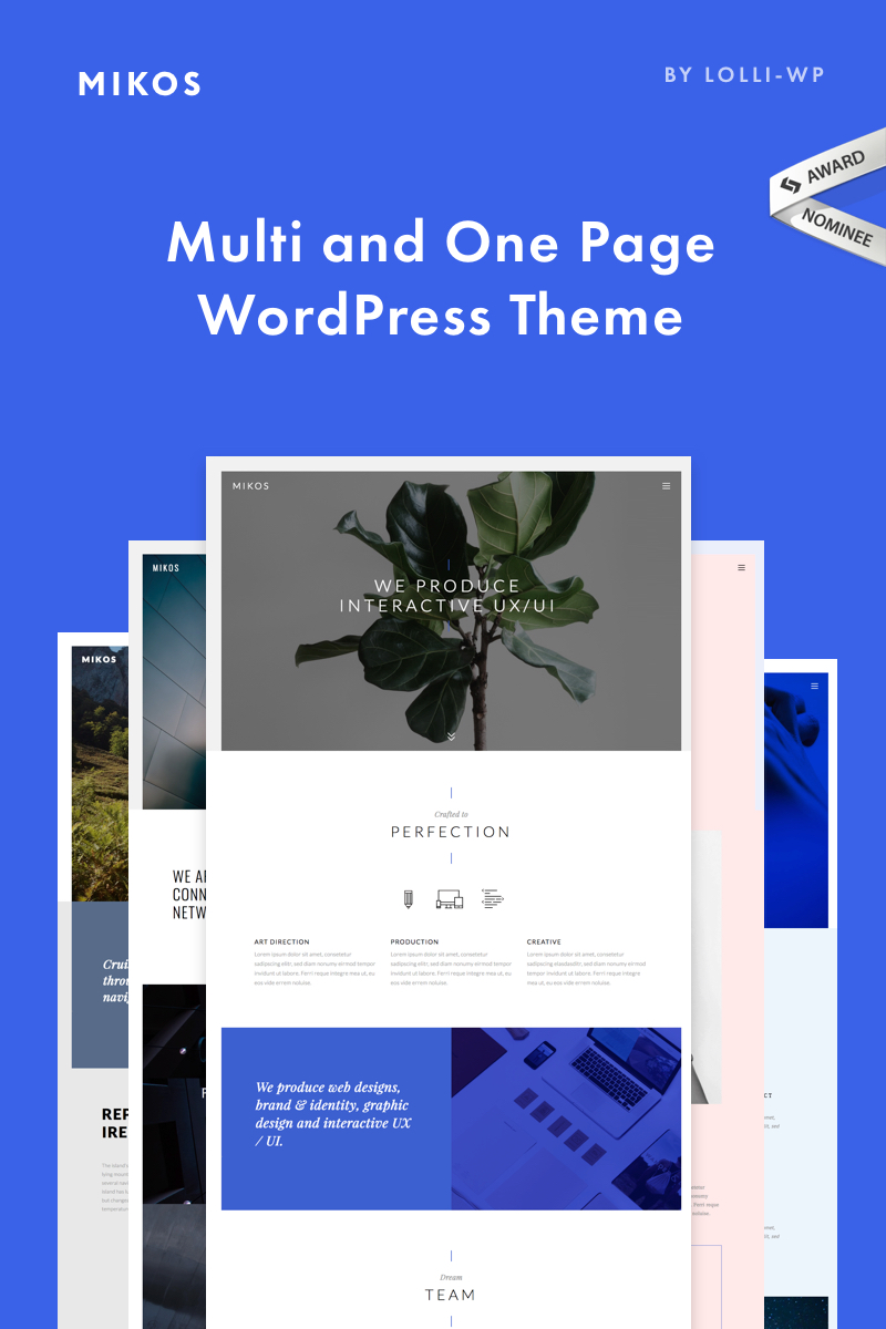 "Tema De WordPress ""Mikos - Multi and One Page"" #67718"