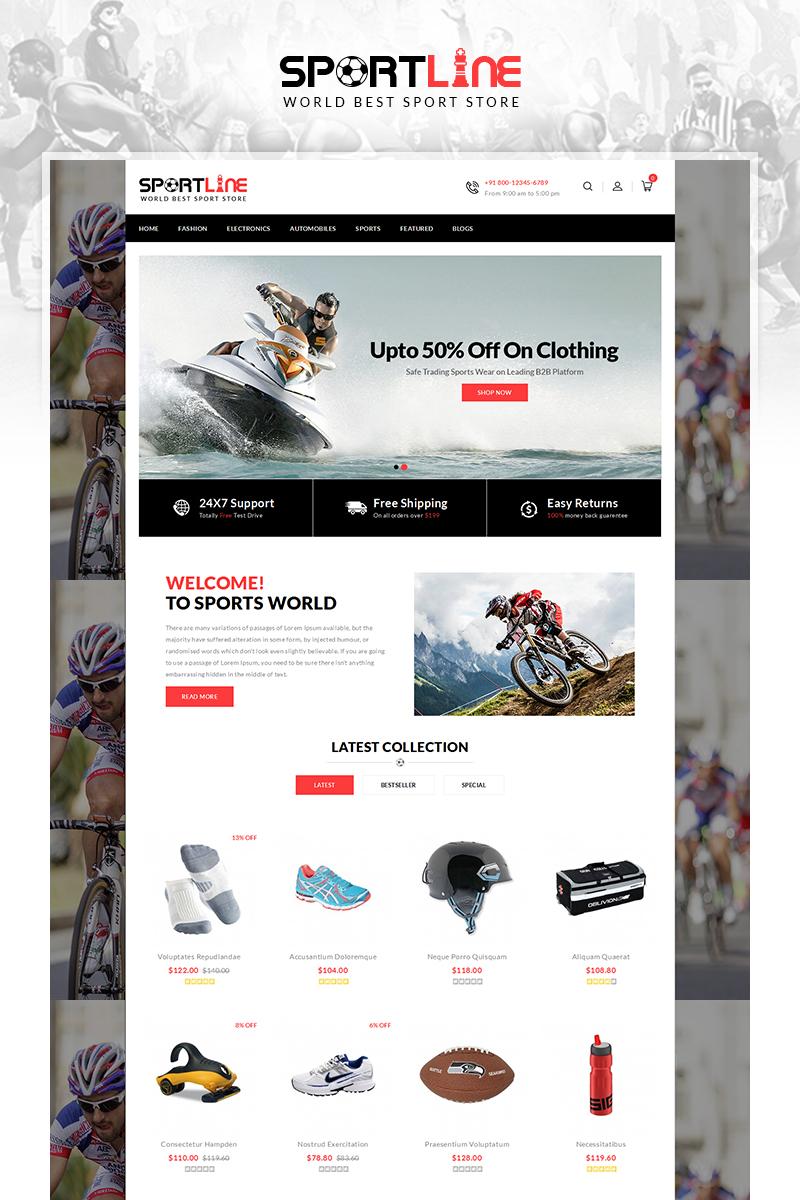 "Tema OpenCart Responsive #67719 ""Sport Line - Sports Store"""