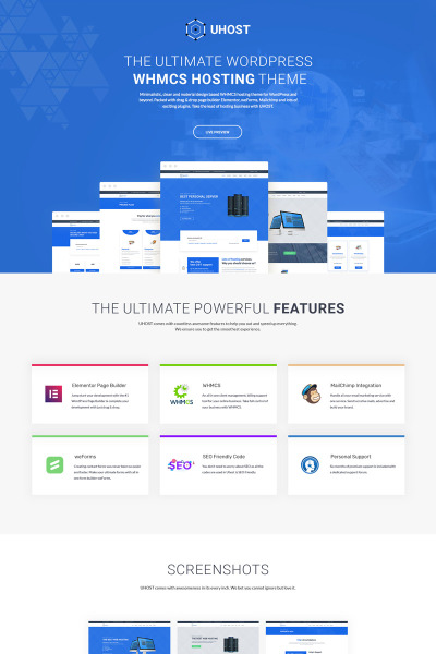 uHost - Web Hosting with WHMCS Support