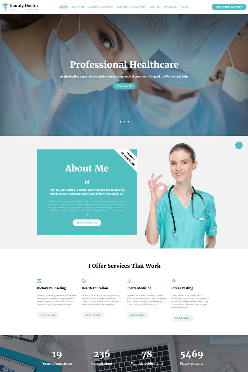 "Website Vorlage namens ""Family Doctor - Medical Consulting Multipage HTML5"" #67733"