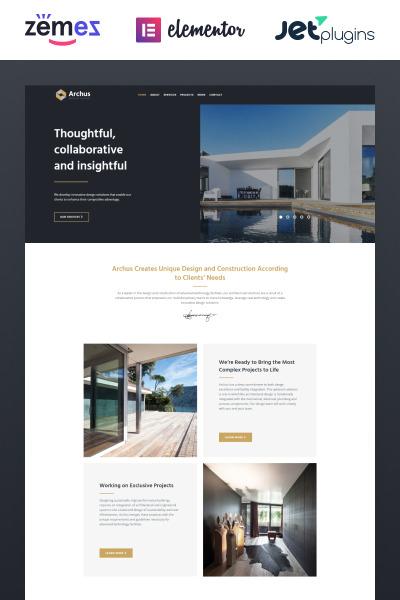 WordPress шаблон №67721 на тему архитектура