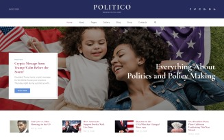 Politico - Political Magazine Multipage HTML5 Website Template