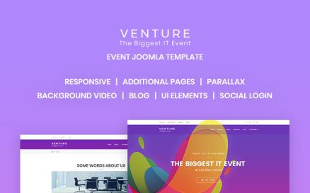 Venture - Event Planner Joomla Template