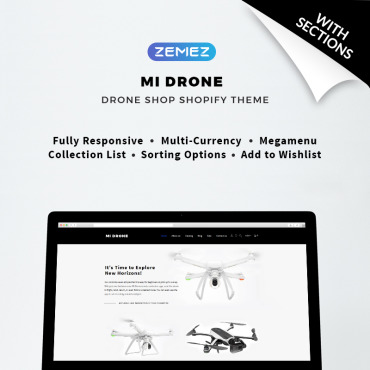 Preview image of Mi Drone - Single Product Responsive
