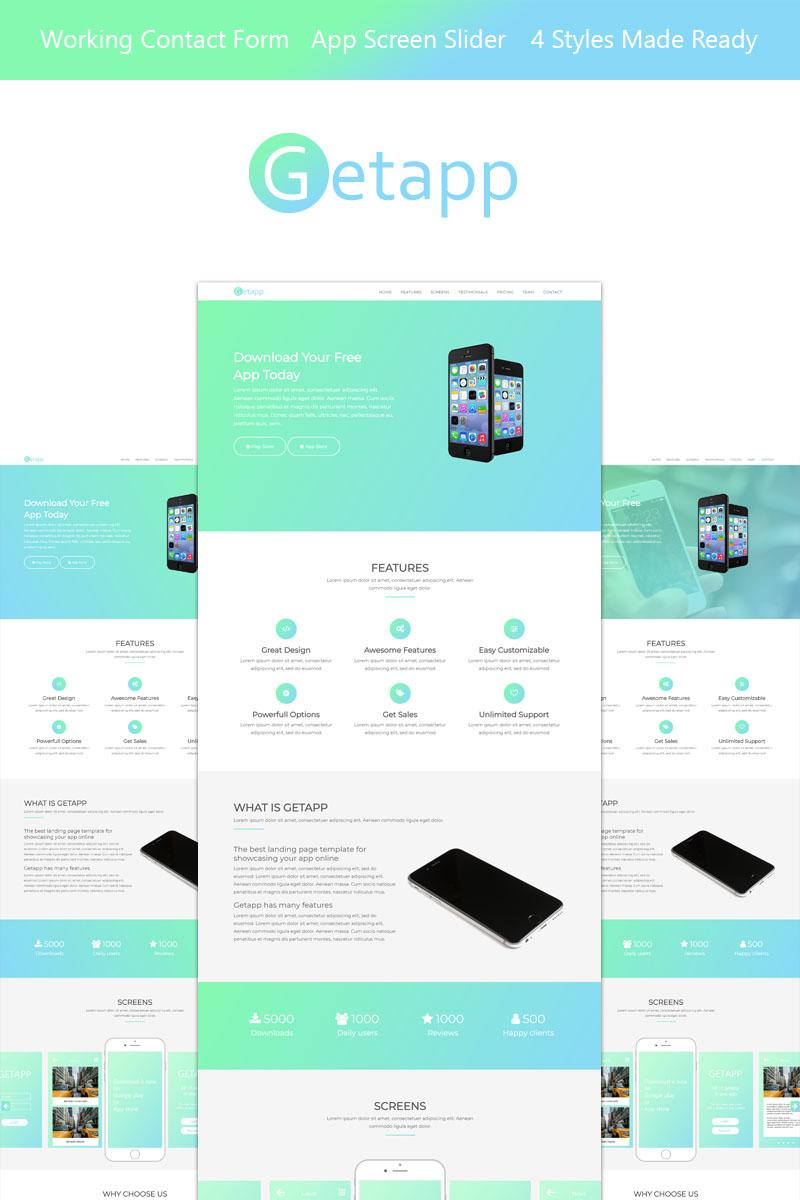Website Template 67826 App Landing Page Custom Website