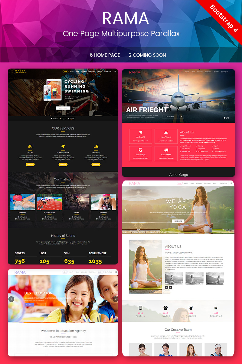 Website Template #67827 Animations Business Colorful Custom Website ...