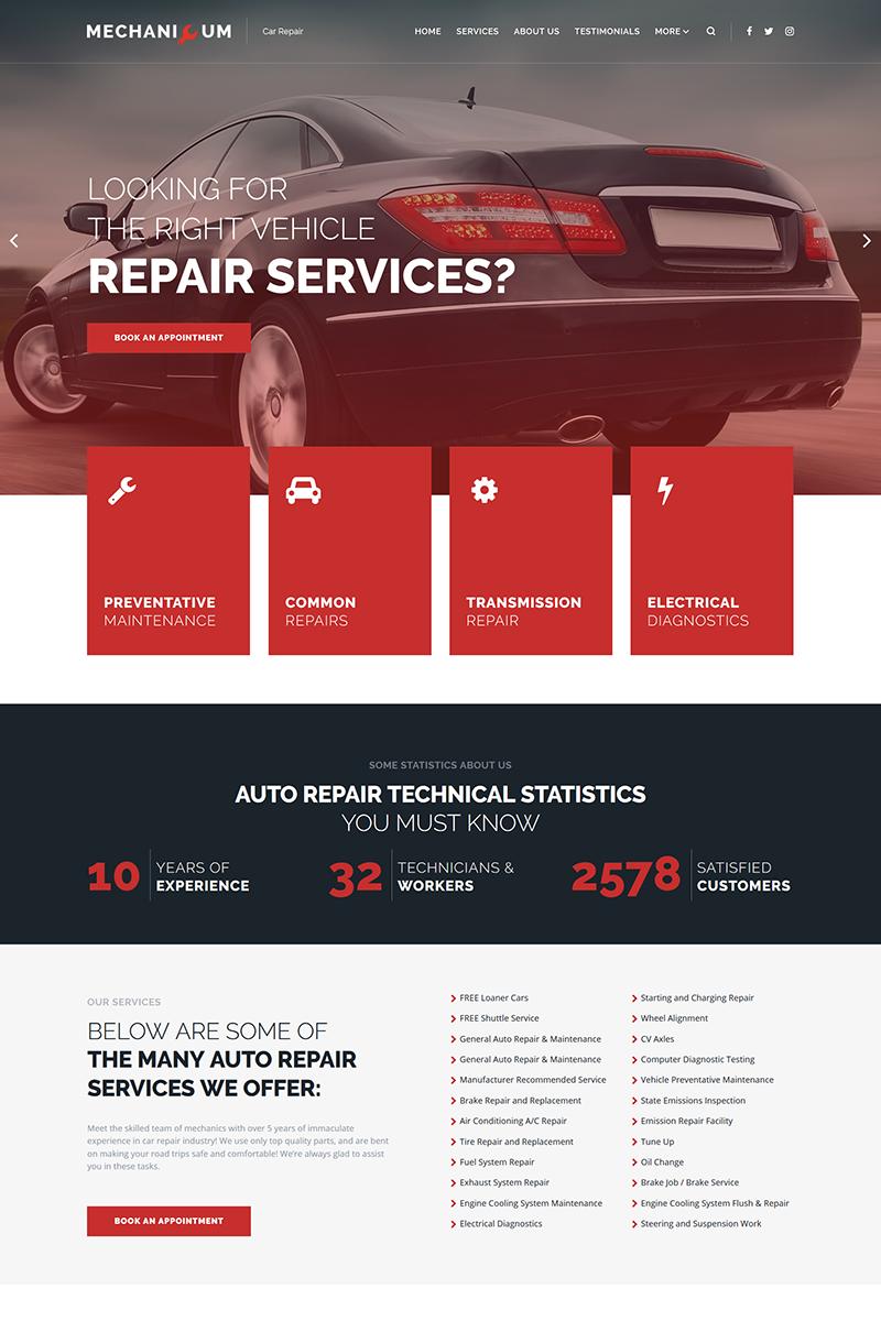 Mechanicum - Car Repair WordPress Elementor Theme WordPress Theme