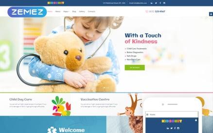 Kidsonet - Responsive Kids Medical Clinic Joomla Template