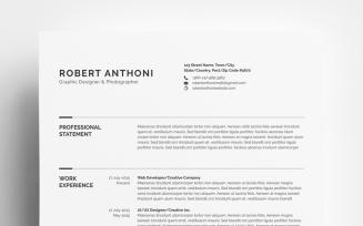 Clean Resume - Designer/Developer/Photographer Resume Template