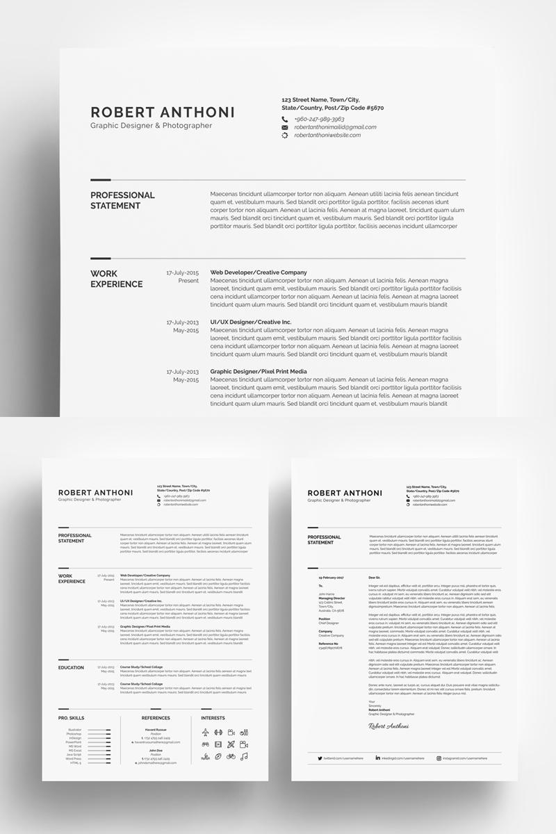 Clean Resume Designer Developer Photographer Resume Template
