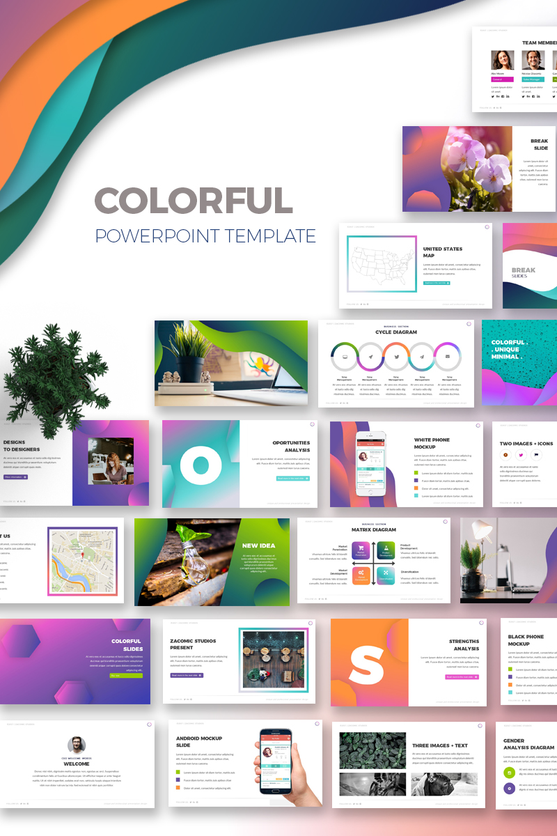 colorful powerpoint template #67853, Uci Presentation Template, Presentation templates